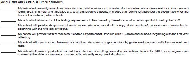 Nonpublic School Academic Standards