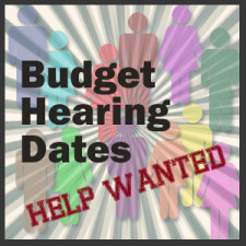 Budget Hearings Help Wanted
