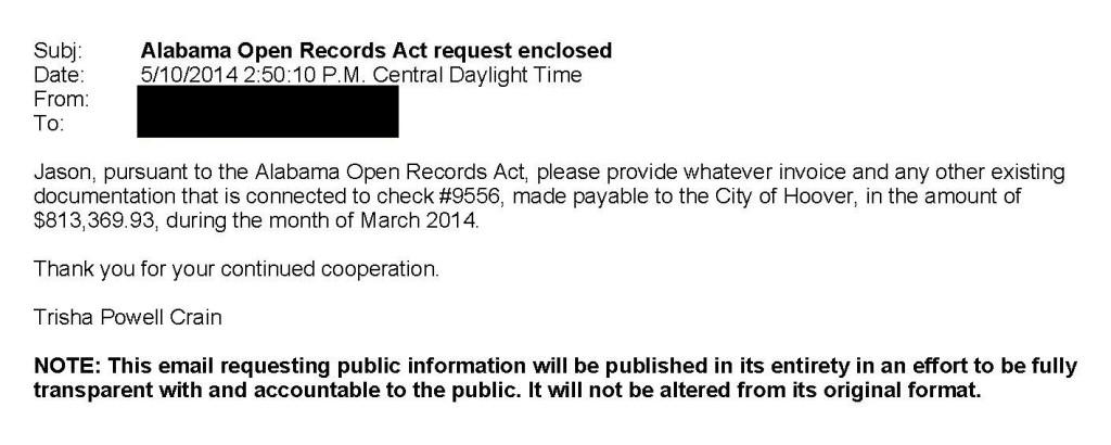 ORA Request for Invoice 051014