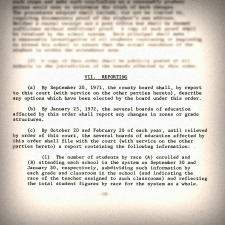 Reporting requirement - Stout v JeffCo 1971