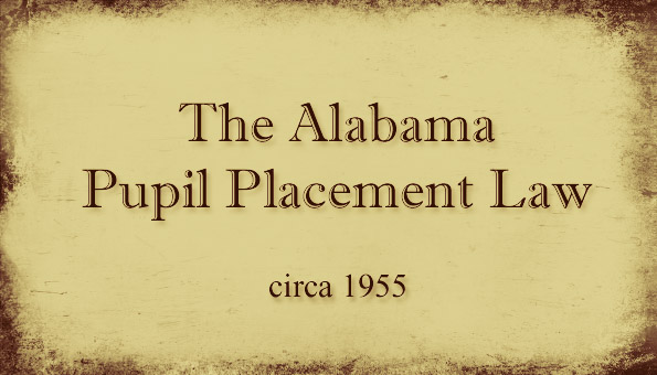 Alabama Pupil Placement Law