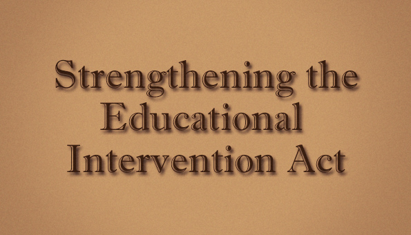 Ed Intervention Act