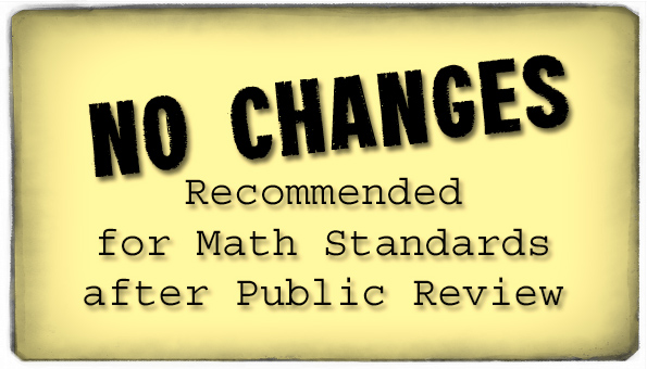 No Changes - Math Standards