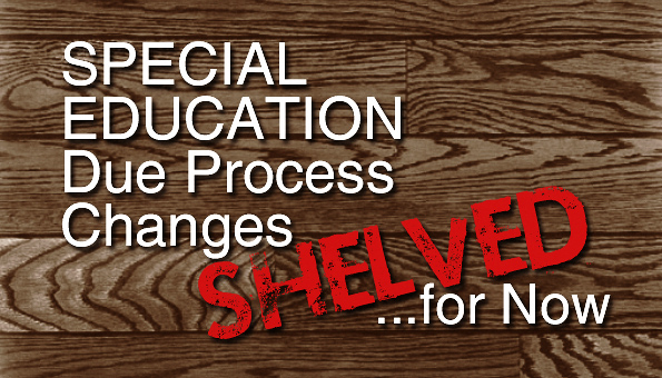 Special Education Changes Shelved