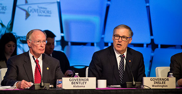 Feb. 21—Washington Governor Jay Inslee, chair of the Education and Workforce Committee, along with Alabama Governor Robert Bentley, vice chair of the committee, co-led the discussion Sunday afternoon on implementing the Every Student Succeeds Act.