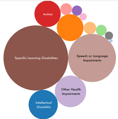 Special Education different subjects in college