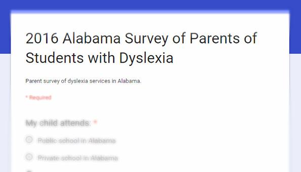 Dyslexia Survey