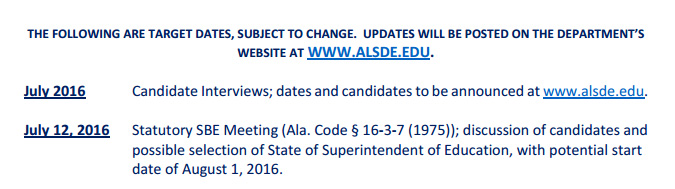 Source: Information Packet for applicants for State Superintendent of Education